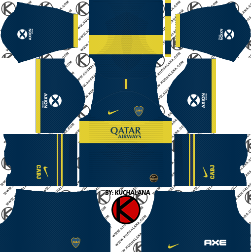 reputable site 82f20 a5798 Boca Juniors 2019/2020 Kit - Dream League Soccer Kits ...