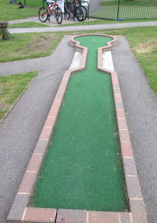 Crazy Golf course at Valley Gardens in Harrogate by Henri Myers 190717
