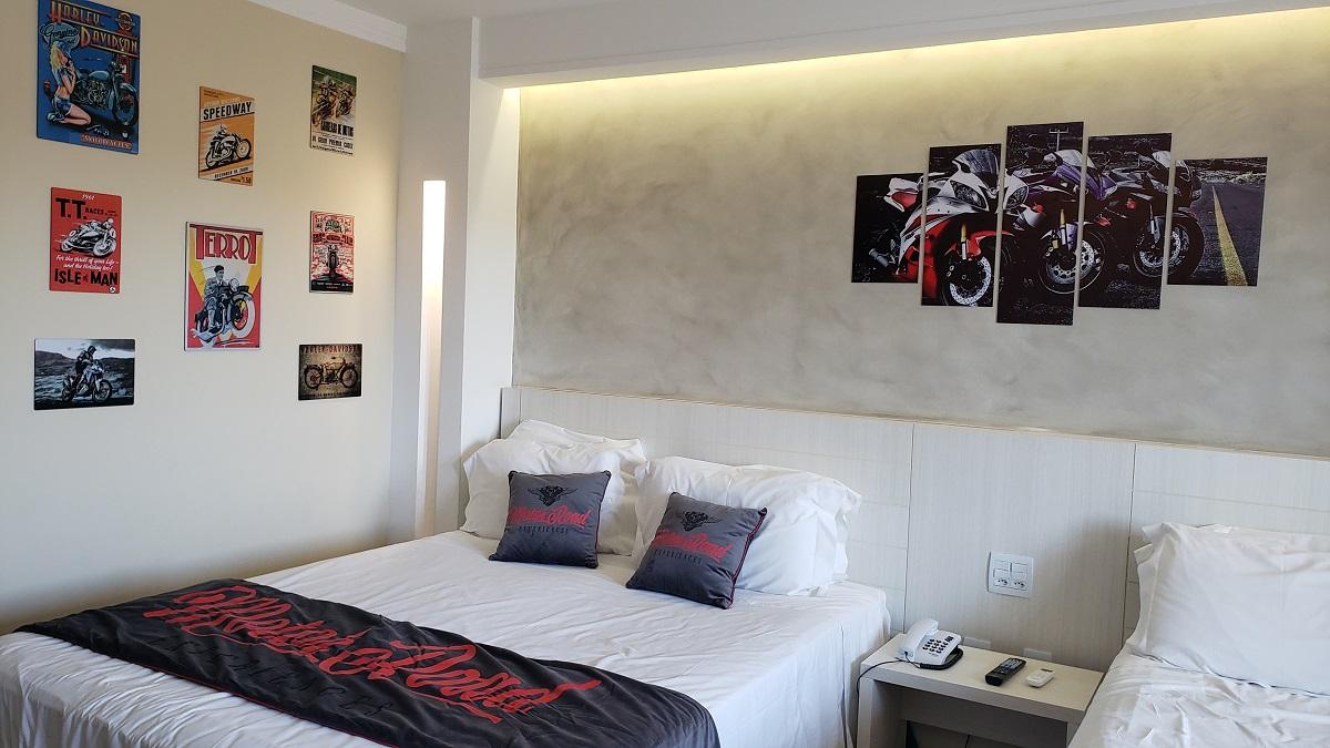 Celebration Resort Olímpia ganha apartamento tematizado para motociclistas