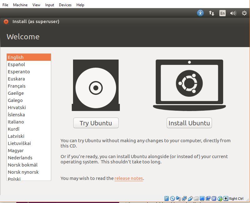 Install Ubuntu On Your Virtual Machine