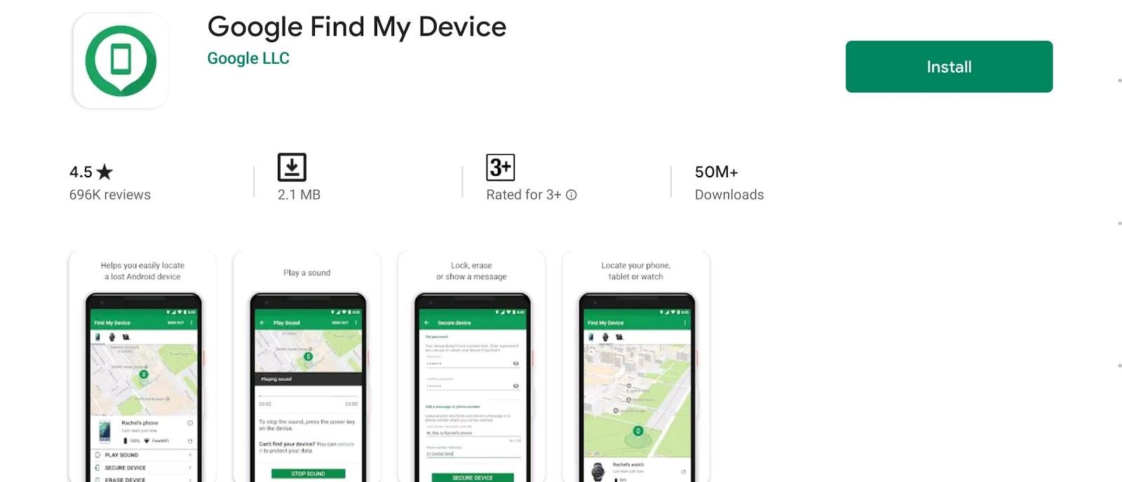 google find my device min