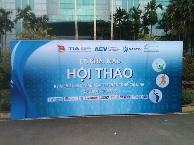 In backdrop cho chương trình hội thảo, hội nghị