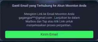 cara mengganti email moonton