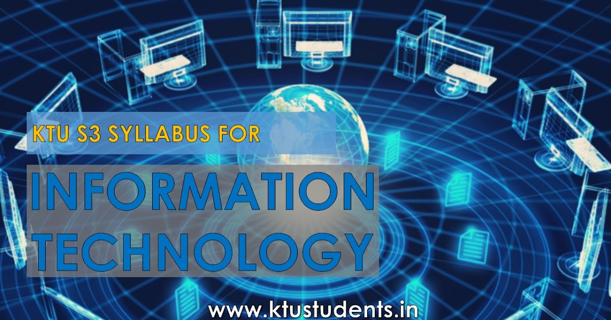 S3 B Tech Syllabus For Information Technology Ktu