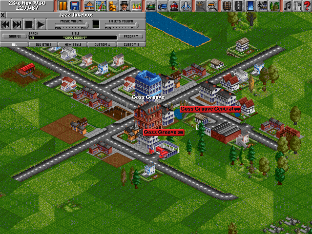 Screenshot of PC game Transport Tycoon