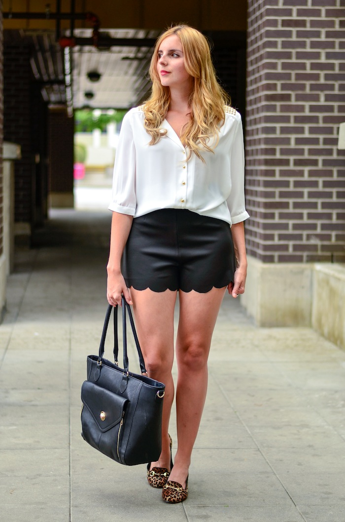 Scalloped Shorts Outfit Ideas