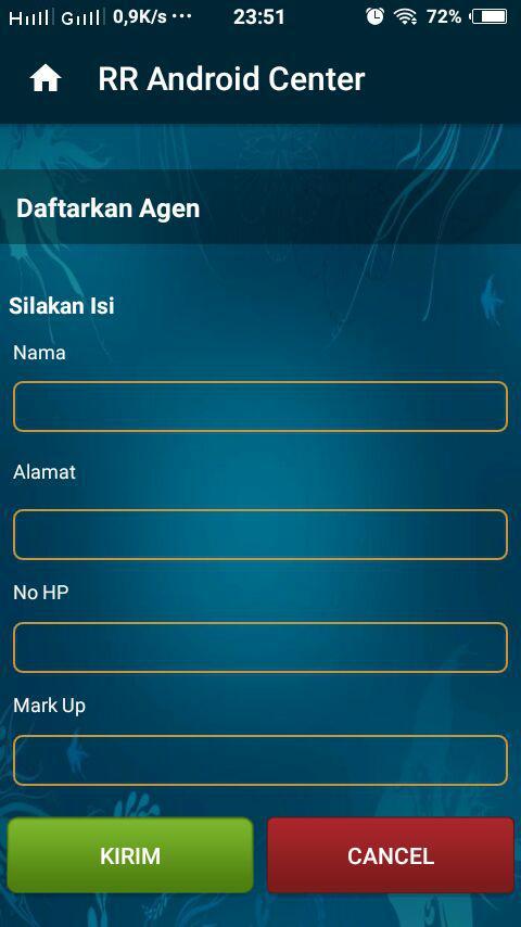 Cara mendaftarkan downline lewat aplikasi android rr center