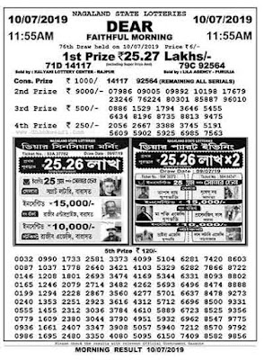 Lottery Sambad Today Result 11:55 am 4pm 8pm - Lottery