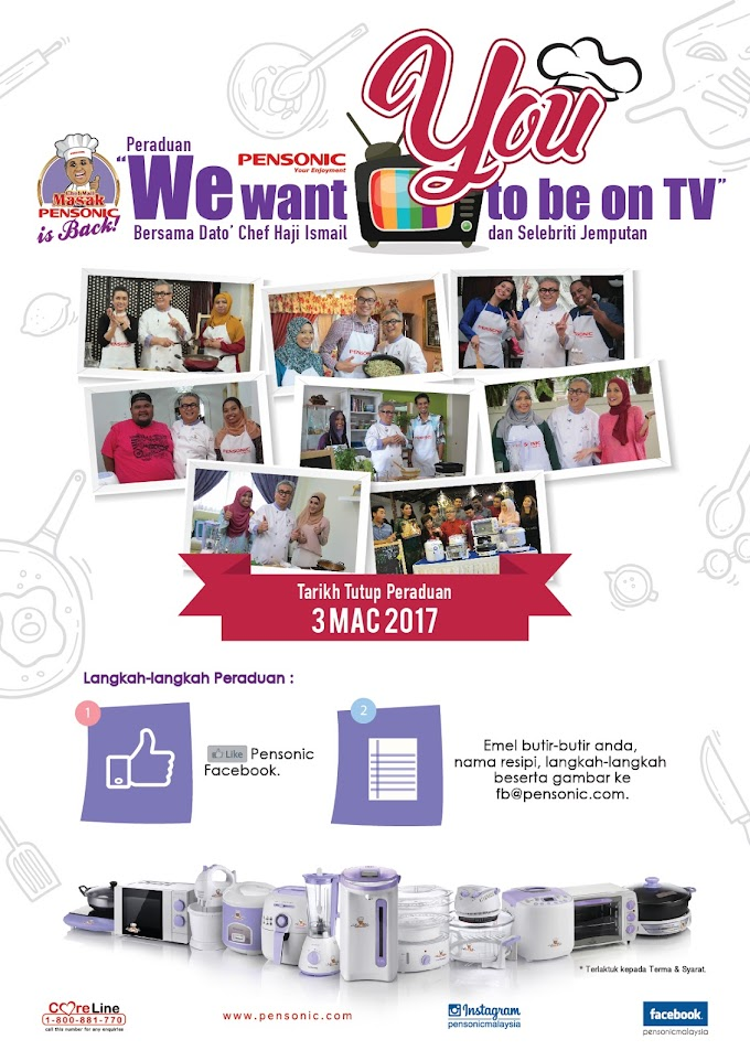 "Pensonic Malaysia ""We Want You To Be On TV"" Bersama Dato' Chef Haji Ismail dan Selebriti Jemputan!"