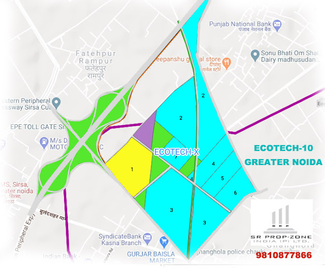 Layout Plan Of Ecotech-10 Greater Noida GPS MAP, HD Print Map