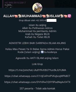 Heboh Grup WhatsApp Hina Agama, Namanya 'Tuhan Yesus Sehun SWT'