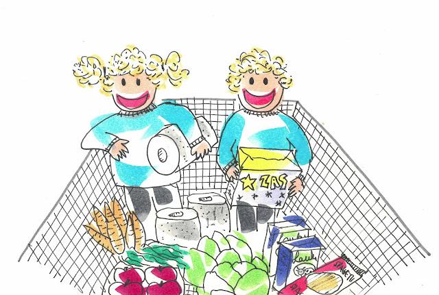 Historia sobre un día en el supermercado con los niños