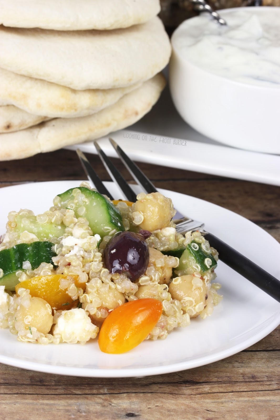 Mediterranean Quinoa Salad | Cooking on the Front Burner #greeksalad #quinoa