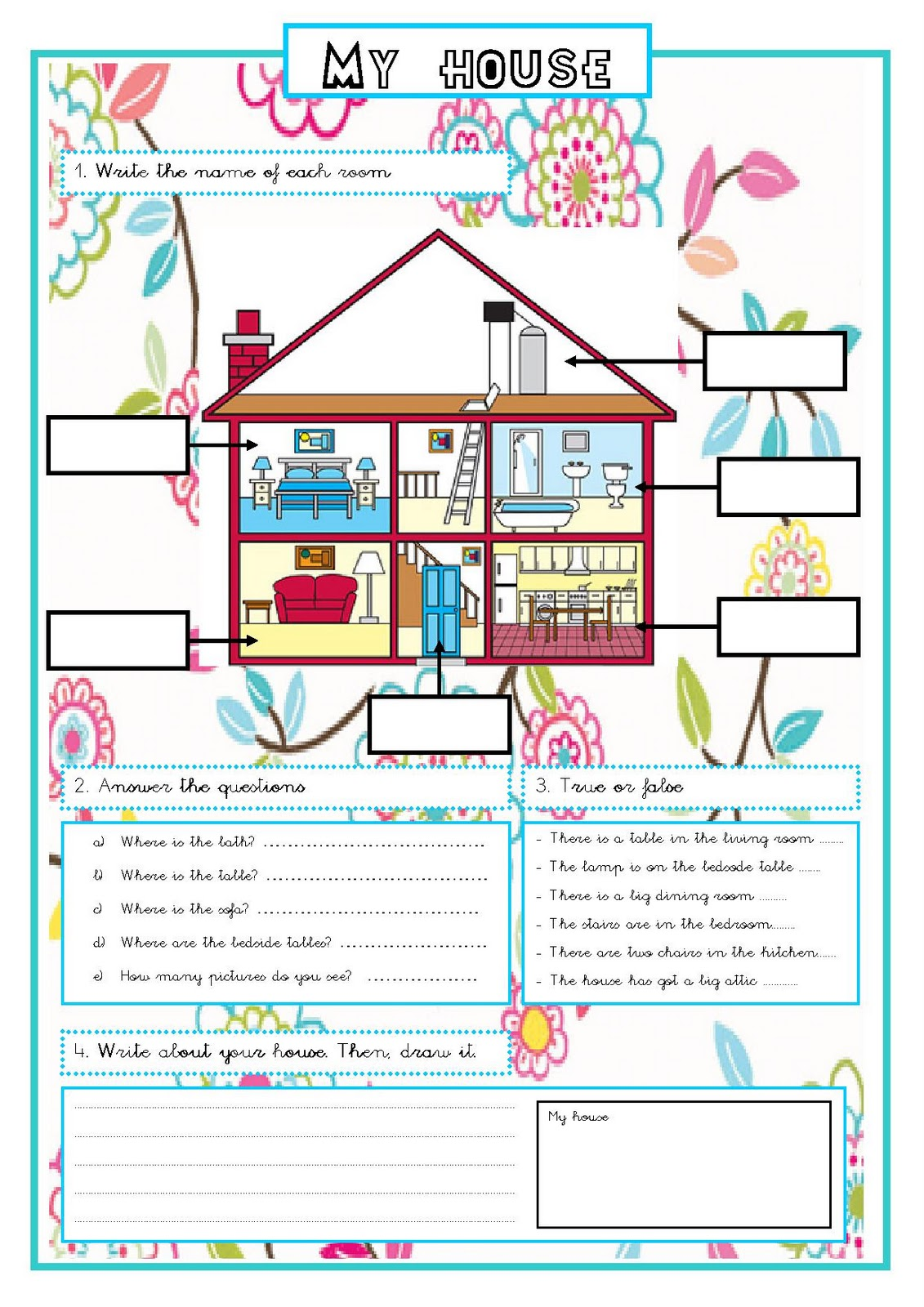 English For Children My House