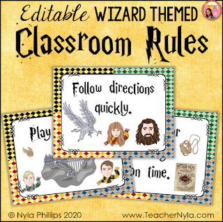Wizard themed classroom rules