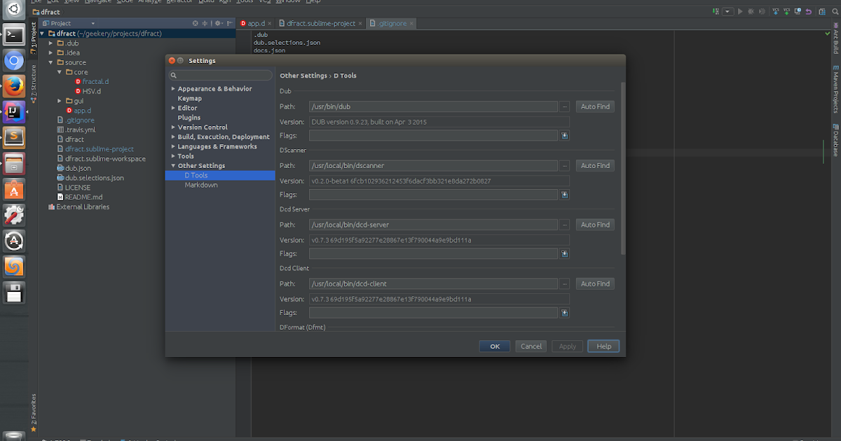 Samael me uk: D plugin for Intellij IDEA