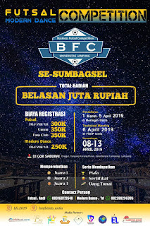 Futsal Competition Se-Sumbagsel Total Hadiah Jutaan Rupiah