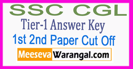 SSC CGL Tier-1 Answer Key 1st 2nd Shift Ques Paper Analysis Cut Off