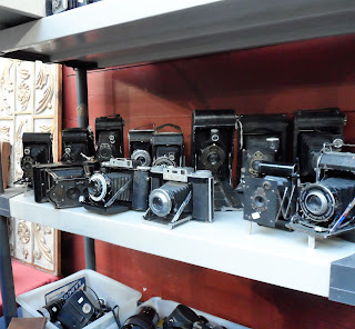 Cámaras de fotos vintage, desembalaje gazteiz