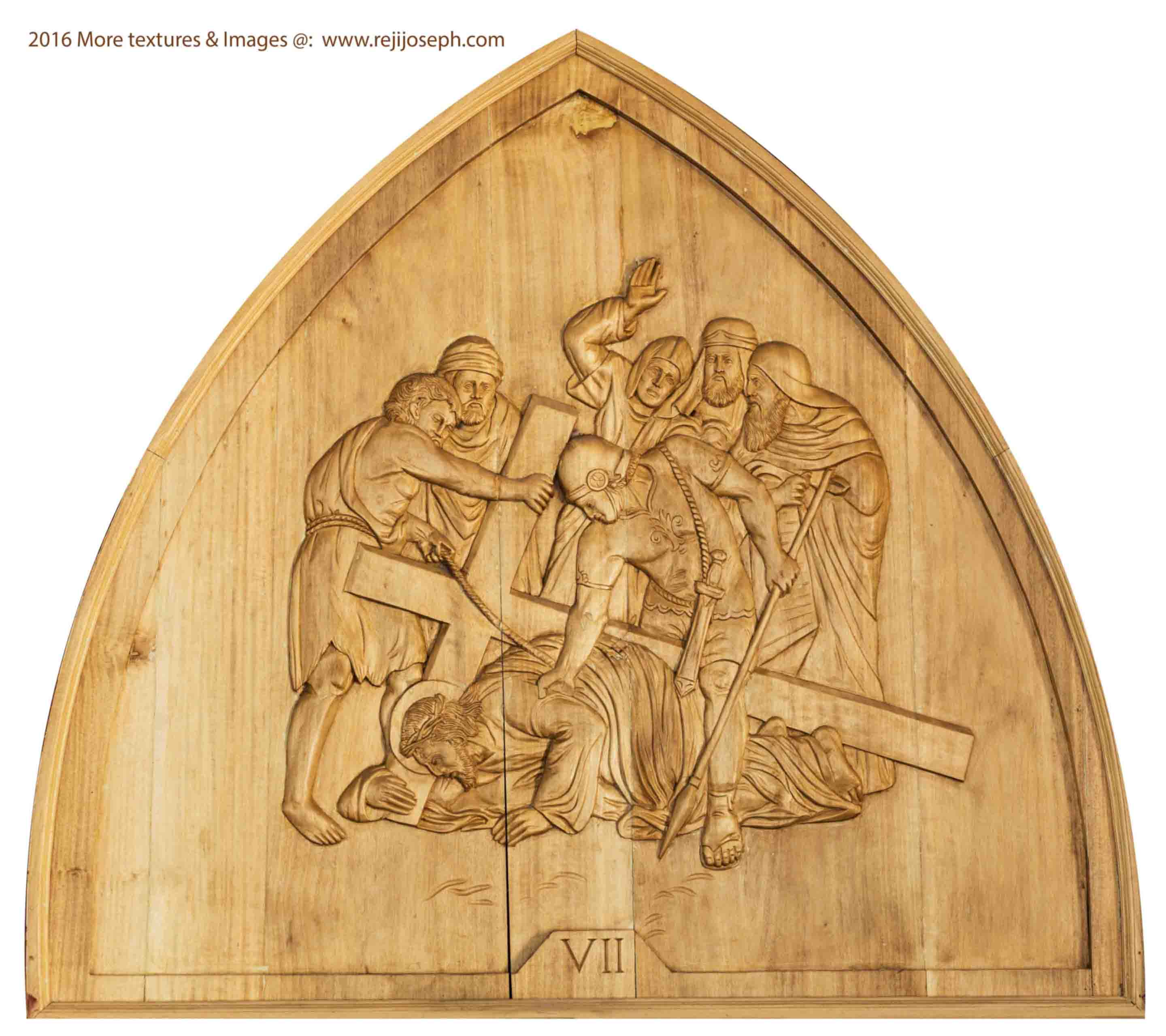 Way of the cross wooden relief 007