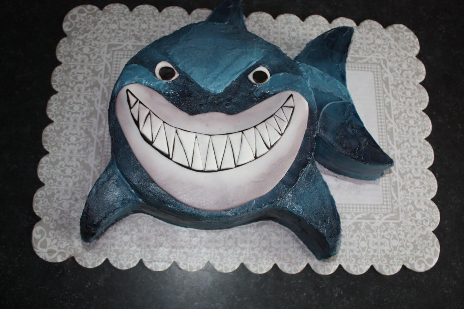 Bruce the shark for Nemo cake template