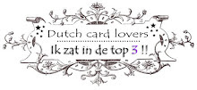 Top 3 plaats bij Dutch Card Lovers.