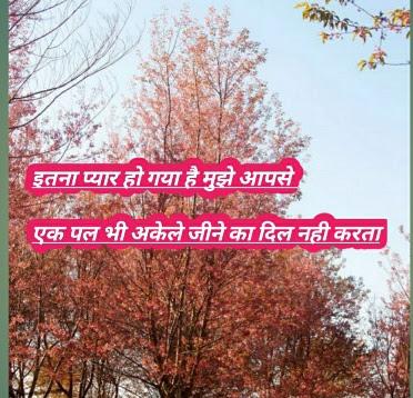 itna pyar romantic shayari