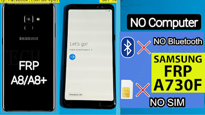 Samsung Galaxy A8+ A730F Google account bypass without PC