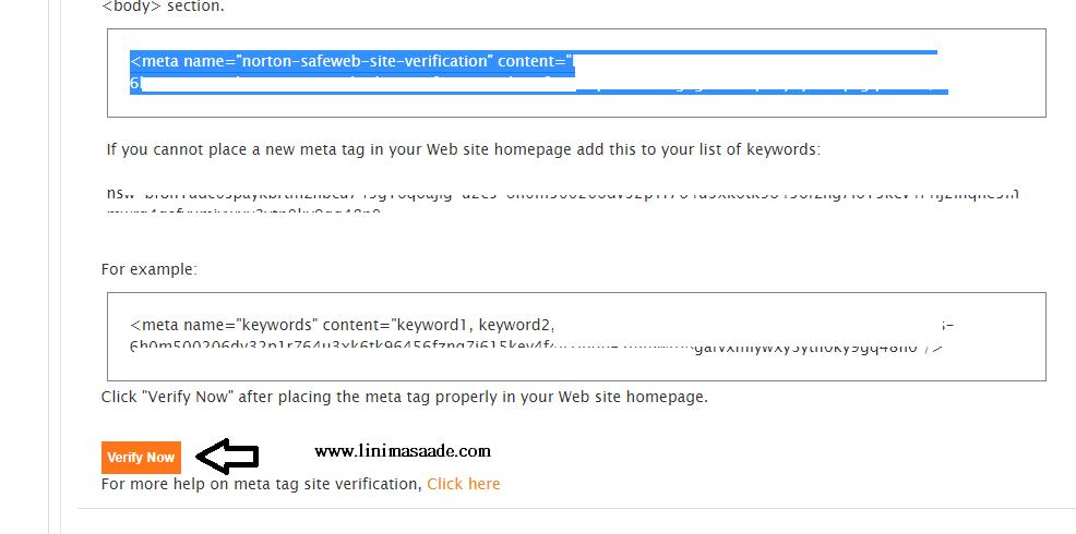 Cara Verifikasi Blog Dengan Norton Safe Web Blogger