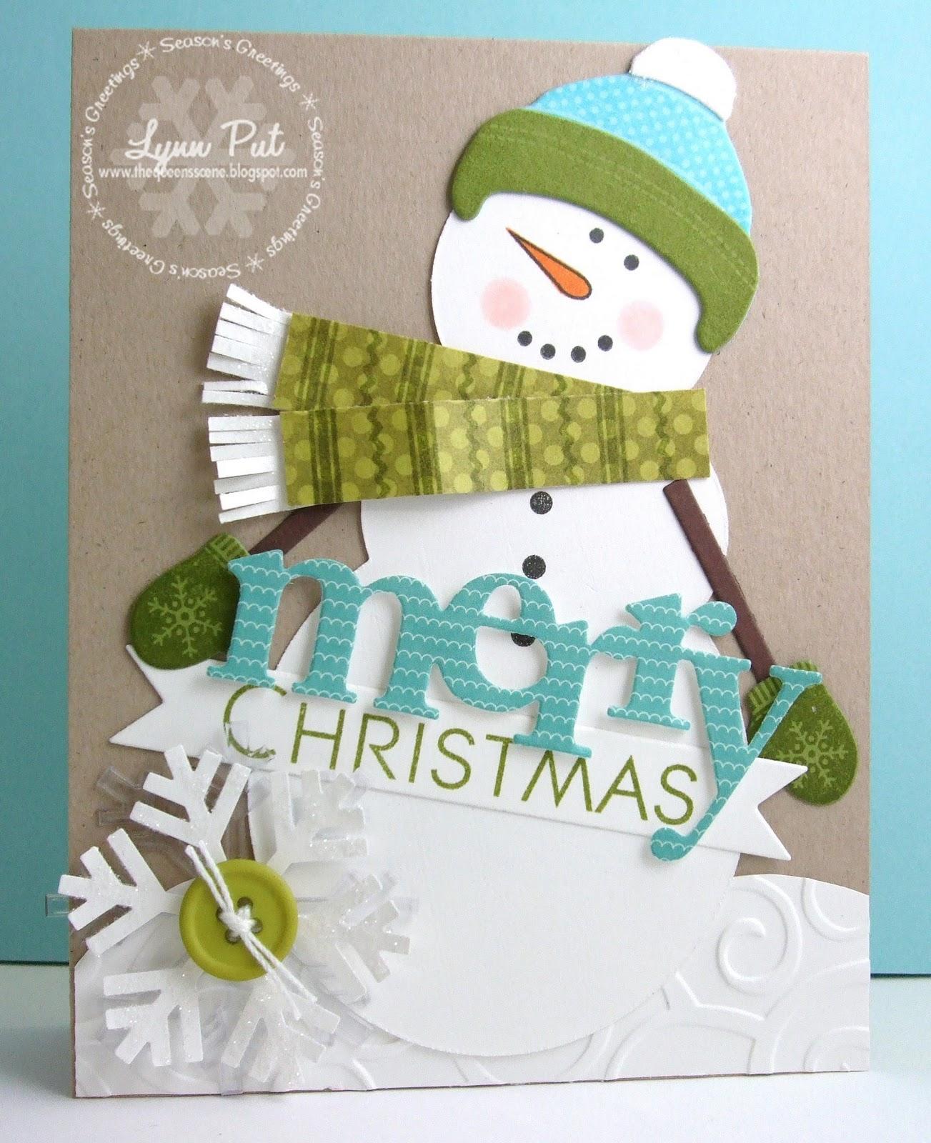 The Queen\'s Scene: CTD#166 - Snowman Merry Christmas