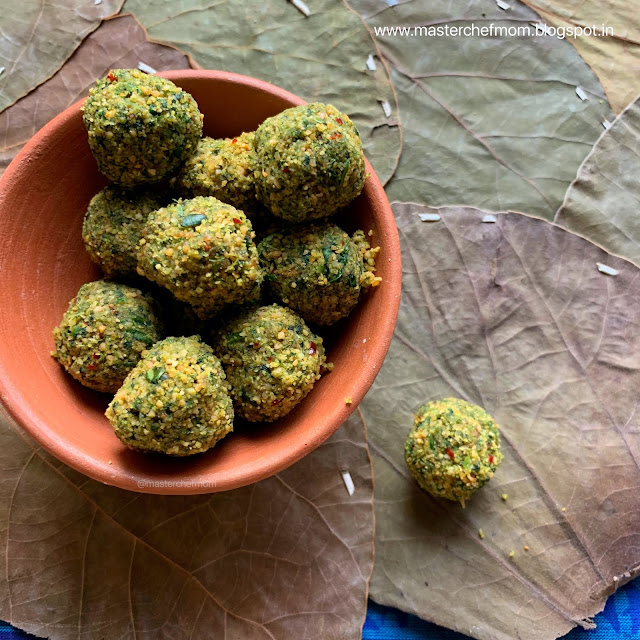 Coriander Leaves Chutney Balls