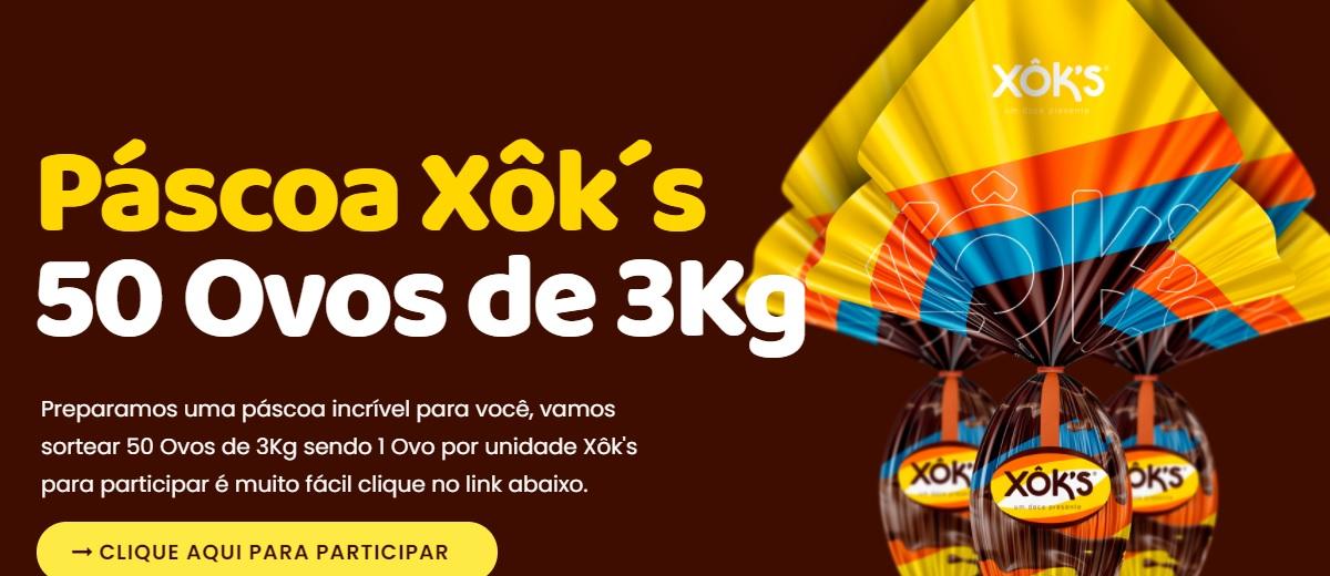 Cadastrar Promoção Xôk's Páscoa 2021 Sorteio 50 Ovos Gigantes - Páscoa Premiada