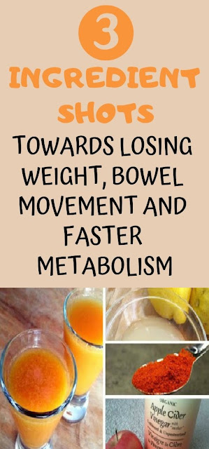 3 Ingredient Shots Towards Losing Weight, Bowel Movement And Faster Metabolism