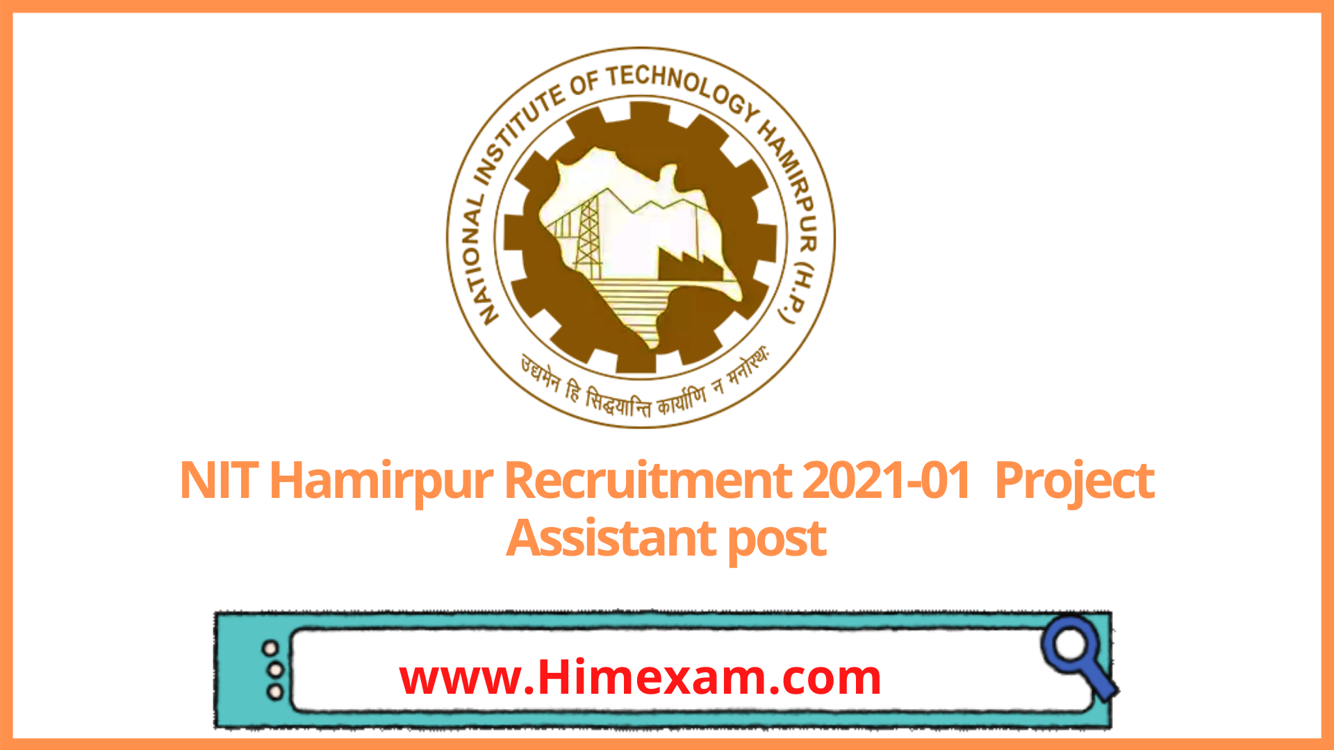 NIT Hamirpur Recruitment 2021-01  Project Associate post