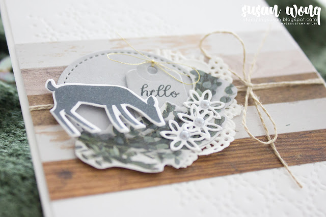 Dashing Deer + Tabs for Everything by Stampin' Up! - Baby / Hello card by Susan Wong