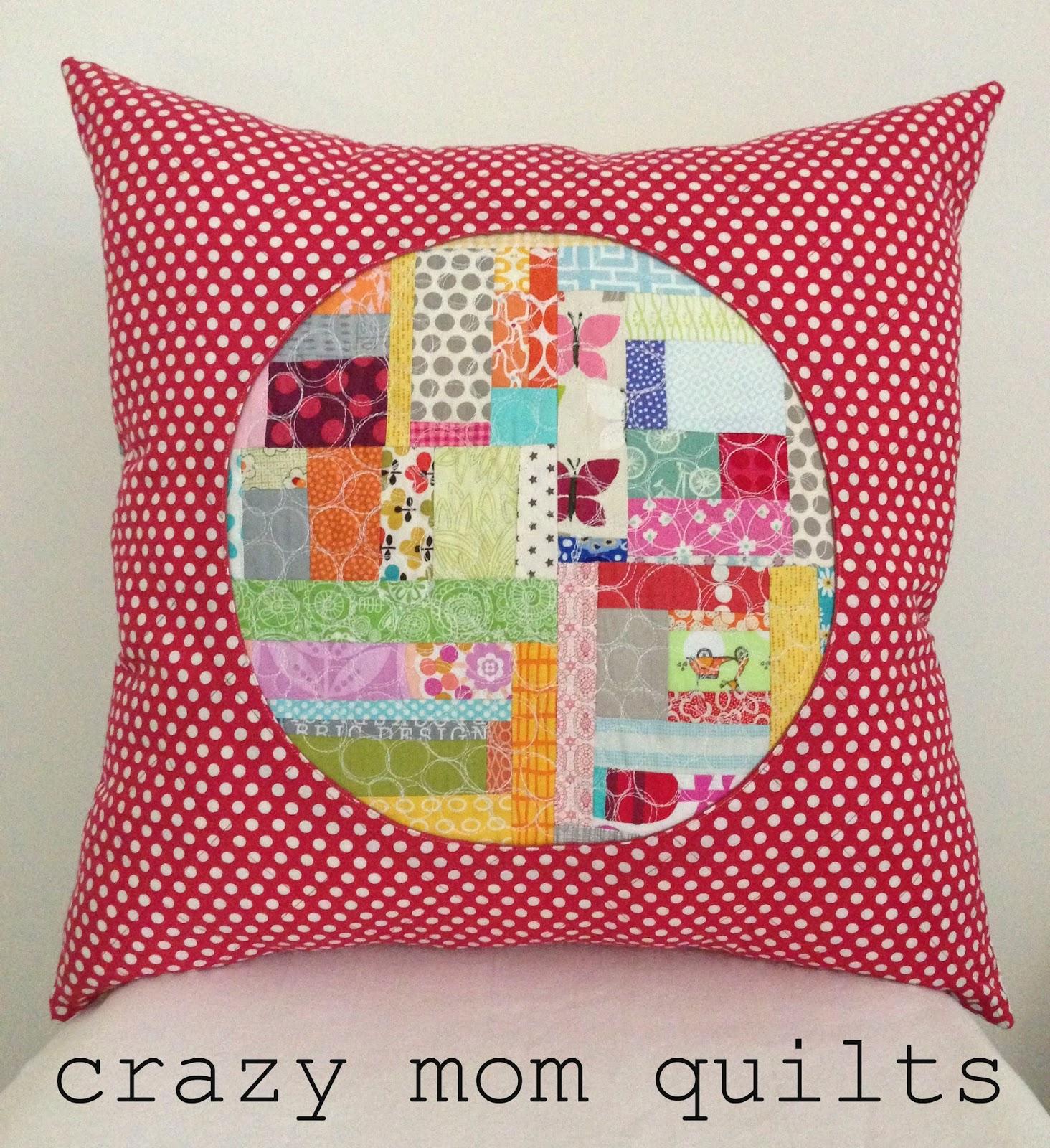 Crazy Mom Quilts Porthole Pillow