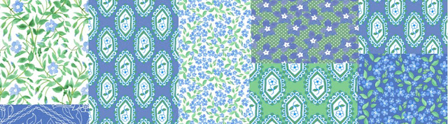 Periwinkle Blue Faux Patchwork Pattern