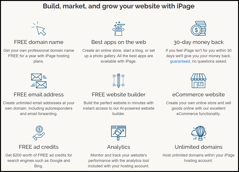 Best Features Of iPage Web Hosting