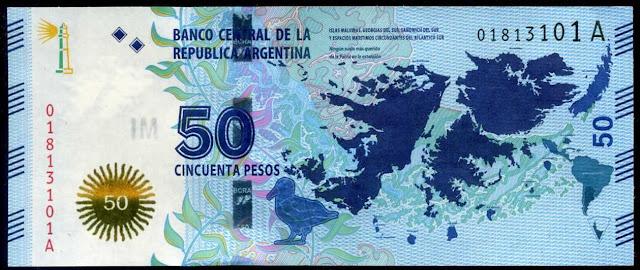 Argentina Banknotes 50 Pesos banknote 2015 Islas Malvinas - Falkland Islands