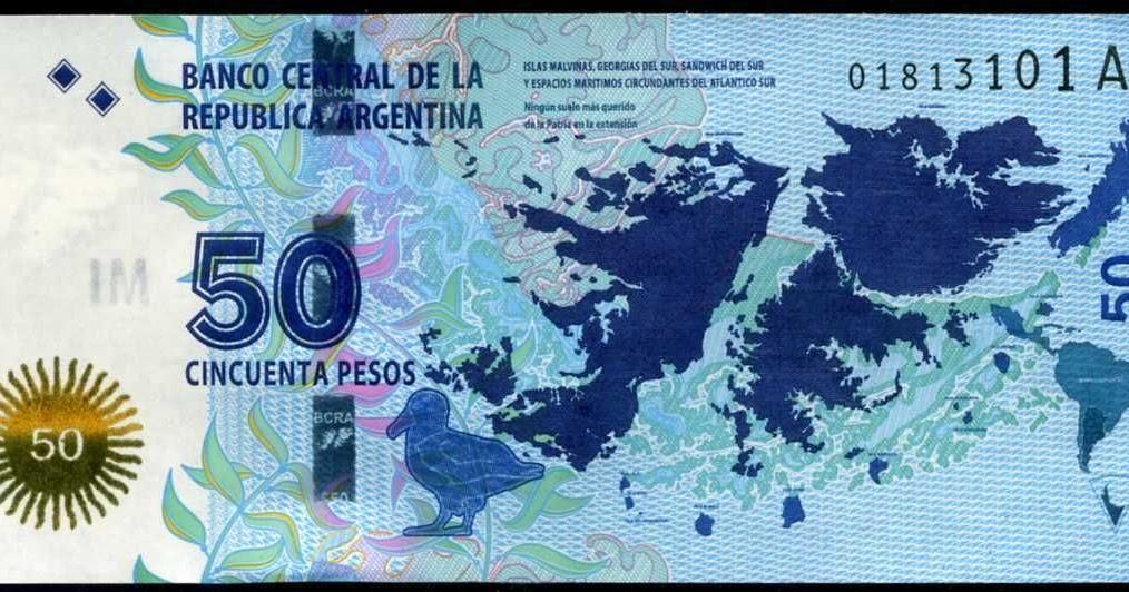 Argentina 50 Pesos banknote 2015 Islas Malvinas - Falkland ...