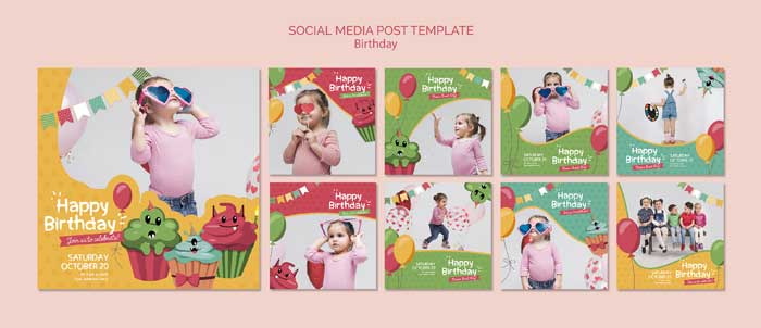 Birthday Social Media Post Template