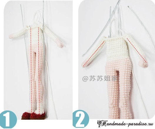 Вяжем крючком куколку амигуруми (7)