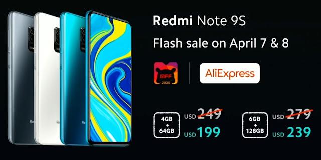 سعر هاتف redmi note 9s