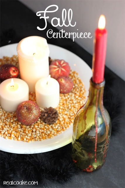 Simple Fall Centerpiece Idea from realcoake.com