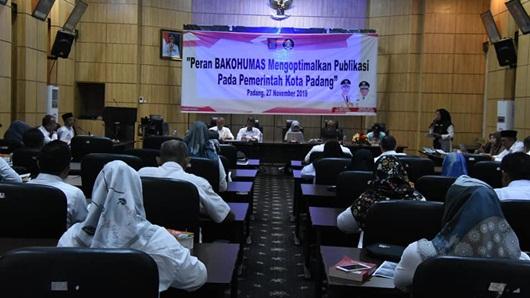 Pemko Padang Berdayakan Bakohumas Optimalkan Publikasi Instansi