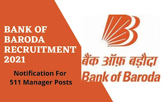 Last day of application for 511 manager other posts in Bank of Baroda