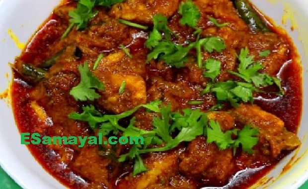சில்லி சிக்கன் குழம்பு செய்முறை / Chili Chicken Curry Recipe !