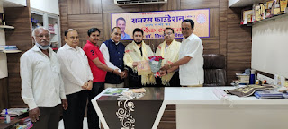 संपादक राजदेव तिवारी तथा वरिष्ठ पत्रकार अरुण उपाध्याय का समरस ने किया सम्मान | #NayaSaberaNetwork