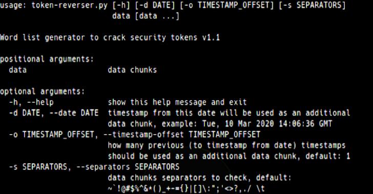 Token Reverser : Word List Generator To Crack Security Tokens