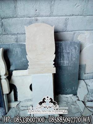 Contoh Batu Nisan Dari Marmer, Nisan Makam Islam, Kuburan Nisan Batu